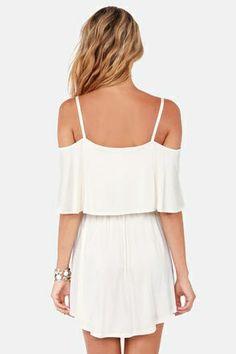 Shoulder cut out dresses.