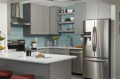 If you now live in the condominium and want to remake your kitchen, you got the right place. We provide you with some of the best models and designs of the condo kitchen remodel. Kitchen Cabinets Pictures, Modern Kitchen Cabinets, Painting Kitchen Cabinets, Kitchen Decor, Kitchen Design, Grey Cabinets, Kitchen Stuff, Kitchen Ideas, Small Condo Kitchen