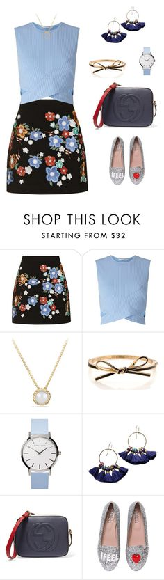 """Untitled #1836"" by bushphawan ❤ liked on Polyvore featuring Topshop, Miss Selfridge, David Yurman, Kate Spade, Gucci and Chiara Ferragni"