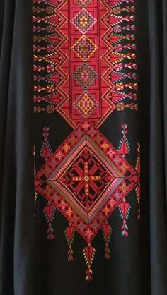 Palestinian Types Of Embroidery, Diy Embroidery, Cross Stitch Embroidery, Embroidery Patterns, Sewing Patterns, Cross Stitch Designs, Cross Stitch Patterns, Cross Stitch Geometric, Palestinian Embroidery