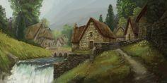 Peasant Village by stephengarrett1019.deviantart.com on @DeviantArt