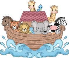Noah's Ark Baby Invitations