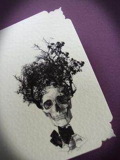 Damn French Desserts Victorian Vanitree Skull Card Set of 10