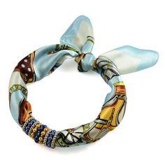 Šátek s bižuterií Letuška 299let009-31.02 - bledě modrý - Bijoux Me! 💍 Originální česká bižuterie a šperky. Eshop i kamenná prodejna v Praze ✓