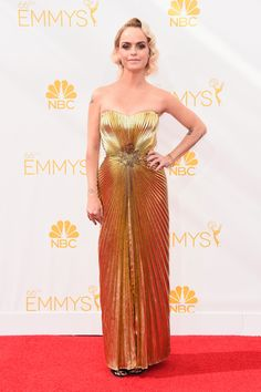 15 Most Glamorous Gowns at the Emmys 2014 Taryn Manning in Jerome C. Rousseau