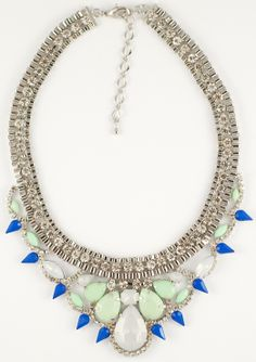 mint-white-blu necklace trends spring 2014 http://www.totemshop.in.ua/collection/kolie/product/pastelnoe-sovershenstvo