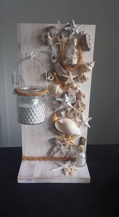 Decoration for the summer for seniors - Decoration for the summer for seniors You are in the right place about cool crafts Here we offer yo - Sea Crafts, Diy And Crafts, Arts And Crafts, Baby Crafts, Seashell Projects, Driftwood Crafts, Seashell Art, Seashell Crafts, Decoration Shabby