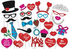 The Best Valentine's Day Printable Photo Booth Prop Sets | Photo Booth Props