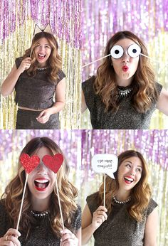 HOLIDAY DIY   New Years Eve Photo Booth Props   I SPY DIY