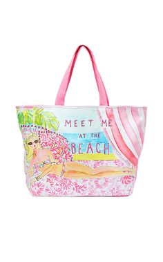 Beach Tote Bag Meet Me At The Lilly Pulitzer Bags