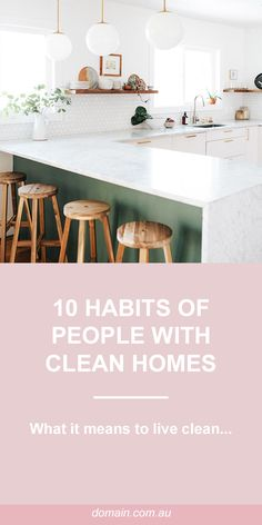 Ten habits of people who always have a clean home