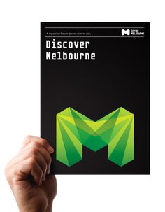 Jason Little, City of Melbourne identity. Challenged with designing an identity to represent a culturally diverse city, the easily identifiable large M is easy to recognize. The iconic letterform becomes a vessel for different patterns. For the main fill, the bends become a source for light; combined, all of the colored rays overlay nicely to look like refracted light.