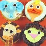 Zoo Animal Cupcakes tutorial with modeling chocolate