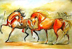 #Arabian #horse #art #painting
