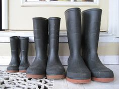 Rubber boots for outdoor expeditions