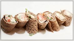 Roulés de galette au saumon