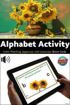 This activity with real photos (for Autism, Special Ed, Occupational Therapy, Speech Therapy, ESL) is very helpful for distance learning due to school closures during pandemic times. It includes 26 randomized cards with letters Aa-Zz. #boomcards #alphabet Interactive Activities, Alphabet Activities, Fun Activities, Occupational Therapy, Speech Therapy, Special Education Classroom, Kids Education, Letter Matching, Letter To Parents