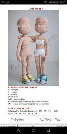 Best 11 Amigurumi Baby Girl – Knitting Lady – Knitting – Fiber – Am … – Gift For Men Crochet Dolls Free Patterns, Crochet Doll Pattern, Doll Patterns, Sewing Patterns, Crochet Doll Clothes, Crochet Toys, Knit Crochet, Crochet Hair Styles, Amigurumi Doll