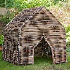 Hazel Children's Den - A great fun children's den ideal for any family garden. Made from eco-friendly hazel branches this den is very robust. Makes a lovely addition to any family garden that keep both adults and children happy. http://www.tinderandtide.co.uk/product.php?cid=47&pid=3285