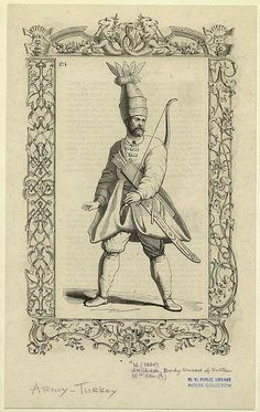 Solak (Janissary Ottoman soldiers) who provided protection to the sultans during…