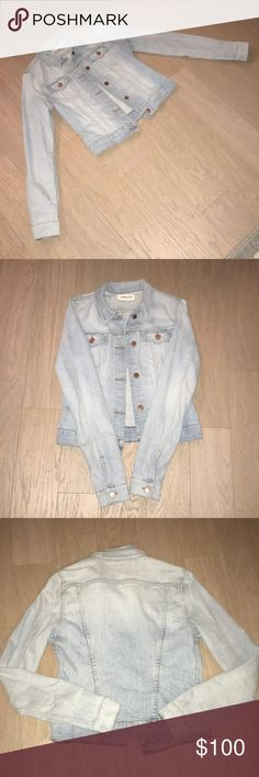 J Brand Light Denim Jacket Once worn. Slim fitting arms with extra length to roll. Runs small. Excellent condition. J Brand Jackets & Coats Jean Jackets