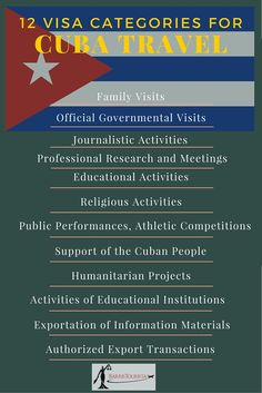 How to travel to Cuba legally. Visa requirements. (c) BarrisTourista.com