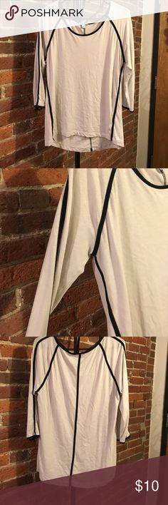 Express lined quarter length shirt Great condition, made from cotton and modal Express Tops Tees - Long Sleeve