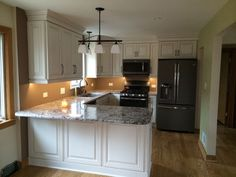 Under Cabinet Lighting GE Slate Appliances Antico Rustico Granite  Countertops