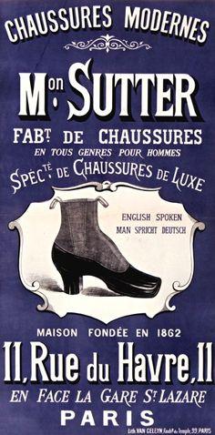 Chaussures modernes « Monsieur Sutter ». Maison fondée en 1862
