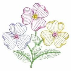 Rippled Pansies 03(Md) machine embroidery designs
