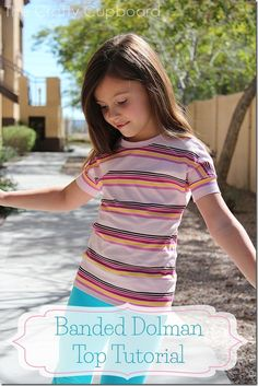 Banded Dolman Top Tutorial by the Crafty Cupboard