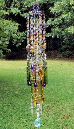 Antique Crystal Wind Chime Gypsy Summer Wind Chime Bohemian