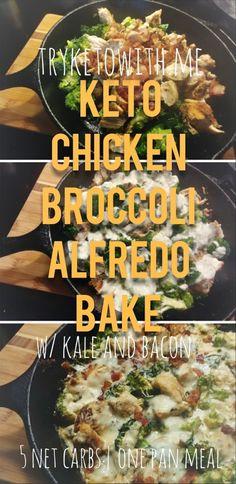 Keto Chicken Alfredo Bake Recipe #keto #lowcarb