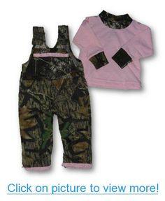 8b632712eedcd Pink Camo Overall SET Mossy Oak Break Up Toddler Baby Girls Overalls $ LS T-