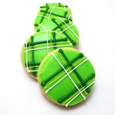How to make a plaid green cookie for Saint Patrick's Day! REALLY easy, I just need to remember to do it!