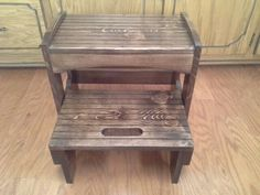 Wooden Two Step Stool