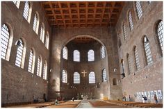 TRIER (GERMANY): The so-called Basilica, emperor Constantine's throne room, is the largest surviving single-room structure from Roman times.