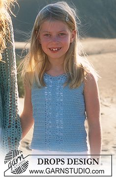 Ravelry: 88-20 a - Crocheted top for Girls pattern by DROPS design NL