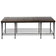 Vanguard Furniture Joyner Cocktail Table with Wood Top P428C-FB