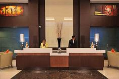 Welcoming smiles and a warm hospitality awaits you at the reception desk of Country Inn & Suites By Carlson, Sector-12, Gurgaon...