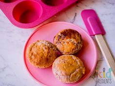 Raspberry coconut muffins, a perfect egg free lunchbox item, no added sugar and freezer friendly! Dairy free option, super yummy!