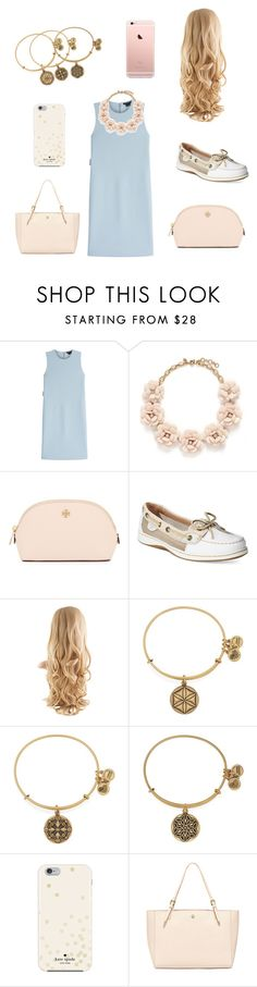 """Blues In The Sky"" by arisac ❤ liked on Polyvore featuring Theory, J.Crew, Tory Burch, Sperry, Alex and Ani and Kate Spade"