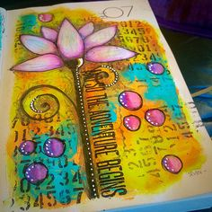 Page art journal - Tracy Scott Art Journal Pages, Art Pages, Art Journals, Daily Journal, Kunstjournal Inspiration, Art Journal Inspiration, Journal Ideas, Mixed Media Journal, Mixed Media Canvas