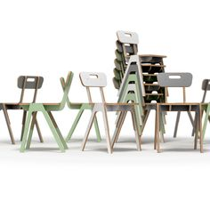 Stackable plywood chair