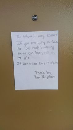 23 Of The Funniest Notes Asking Neighbours To Stop Having Sex So Loud