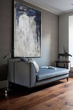 chaiselongue (via desire to inspire - Staffan Tollgard extra) Home And Living, Interior Design, House Interior, Chaise Lounge, Home, Interior, Home Decor, Furniture Design, Room