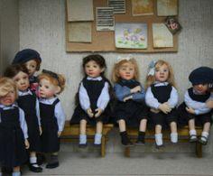 Catherine Muniere miniature OOAK dolls