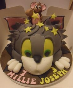 Cat and mouse cake Sandys Sweet Cakes Pinterest Mouse cake