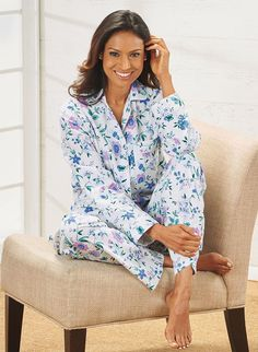 Cozy Flannel Pajamas - AmeriMark - Online Catalog Shopping for Womens Apparel | Beauty Products |  Jewelry | Womens Shoes | Health | Wellness