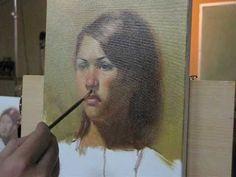 160 minutes oil portrait demo by Zimou Tan